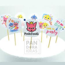 baby shark cake topper pandora ideas