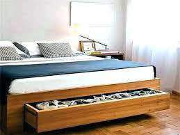 Queen Under Bed Storage Frame Storage Bed With Storage Headboard ...