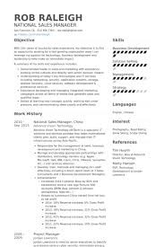 National Sales Manager Resume Samples Visualcv Resume Samples Database