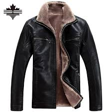 men leather leather jacket jacket casual s winter faux fur coats male motorcycle thicken outwear overcoat for man large size 5xl