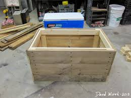 plans drawings rustic cooler stand wood pallets