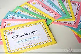 Becca OpenWhen Envelopes