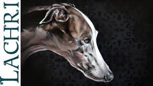time lapse greyhound in oil over acrylic paint sd painting demonstration by lachri you