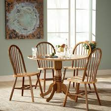 international concepts cinnamon and espresso wood spindle back windsor dining chair
