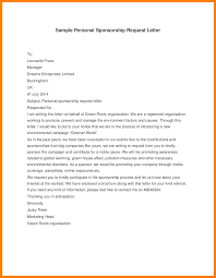 Format For Sponsorship Letter Gorgeous Personal Sponsorship Letter Template Gdyinglun