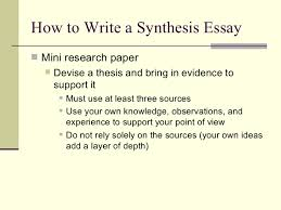 the synthesis essay teacherweb how to write a synthesis essayiuml129reg