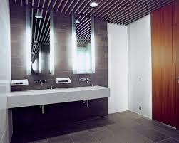 vanity lighting design. Bathroom Vanity Lighting With Minimalist Pendant Combined Concrete And Tile Flooring Design