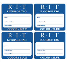 Luggage Tag Template Luggage Tags All Form Templates