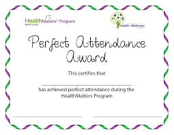 Free Printable Perfect Attendance Certificate Perfect Attendance Certificate Templates Best Professional Templates 1