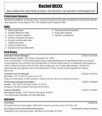 Assistant Finance Manager Resume Sample Manager Resumes Livecareer