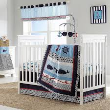 nautica kids whale of a tale 4 piece crib bedding set