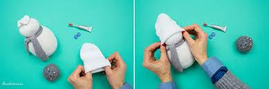 no sew sock snowman 16