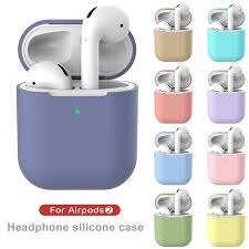 <b>Pure</b> Color TPU <b>Soft Silicone</b> Bluetooth Wireless Earphone Case for ...