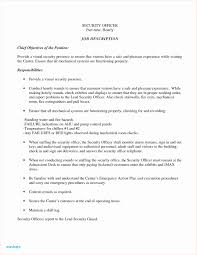 Security Resume Skills New 24 Security Job Resume Resume Template