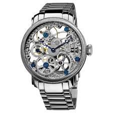 akribos xxiv men s watches shop the best deals for 2017 akribos xxiv men s stainless mechanical skeleton silver tone watch