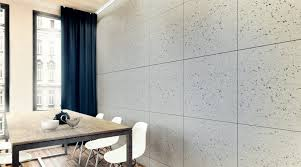 concrete industrio panel natural paint finish modern dining