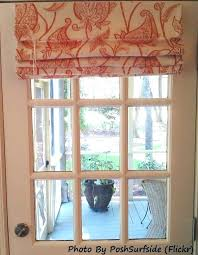roman shade for door window awesome choosing treatments sliding glass doors home decor 5