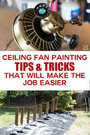 how to paint a ceiling fan without