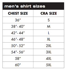 Charles River Rain Jacket Size Chart Charles River Apparel Sizing Charts And Measurement Guide