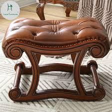 Louis Fashion <b>American</b> Rocking Chair Ottoman <b>Solid Wood</b> ...