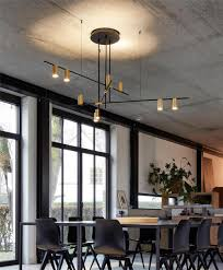 Großhandel Gold Schwarz Post Moderne Led Kronleuchter Decken Kreative Designer Beleuchtung Hängelampe Esszimmer Wohnzimmer Hotel Luster Von