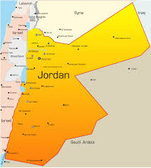 jordan map with cities  blank outline map of jordan