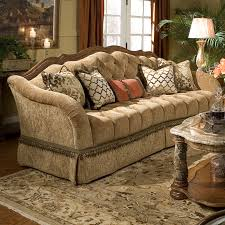 Michael Amini Living Room Furniture Michael Amini Villa Valencia Tufted Sofa Reviews Wayfair