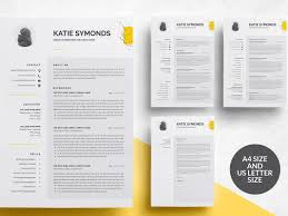 3 Pages Resume Templatecv By Resume Templates On Dribbble