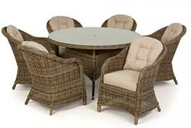 round garden dining table dorset rattan furniture 6 seater set with home design