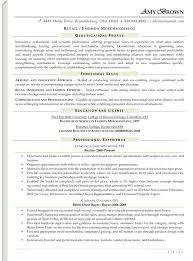 Visual Merchandiser Job Description Resume Merchandiser Resume
