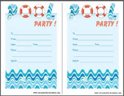 free printable blank pool party invitations.  Party Pool Party Invitations Free Printable In Free Printable Blank Pool Party Invitations
