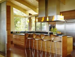 Mid Century Modern Bar Stools On Bright White Kitchens And - Mid century modern kitchens