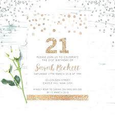 21st invitations