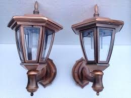 carriage outdoor lights our copper lantern solar wall have 5 led bulbs and 7 color choices