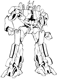 Small Picture Transformers Coloring Pages Free kids world