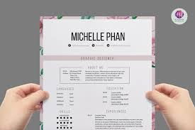 Interesting Modern Resume Template Pages With Floral 1 Page Resume