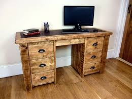 double office desk. rustic double office desk