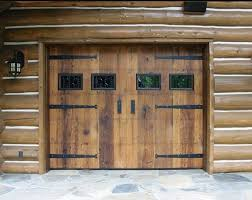 rustic wooden garage door designs