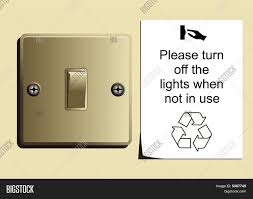 Turn Off Lights Stickers Free Conserve Vector Photo Free Trial Bigstock