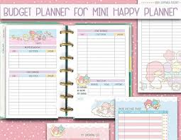 Mini Happy Planner Kakebo Printable Inserts Budget Planner