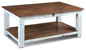 rustic solid wood distressed white 1