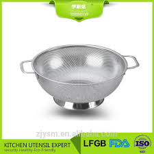 steel mesh kitchen vegetable fruit strainer colander