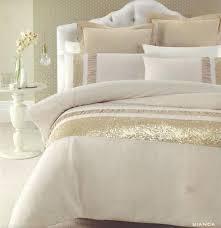 ruffle duvet bianca gold beige golden sequins queen king quilt doona duvet cover set cream colored queen duvet