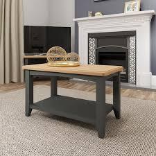 aurora light oak grey coffee table