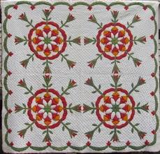 19 best Coxcomb QUILTS images on Pinterest | Antique quilts ... & Four block tulip applique from Marie Miller quilts Adamdwight.com