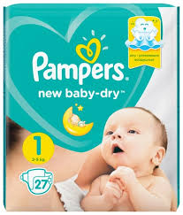 <b>Pampers подгузники New</b> Baby Dry 1 (2-5 кг) 27 шт. — купить по ...