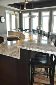 Kitchen Island With Bar 1000 Ideas About Round Kitchen Island On Pinterest Curved