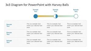 Harvey Balls Chart Template 3 X 3 Diagram For Powerpoint With Harvey Balls Powerpoint Design
