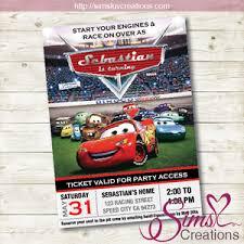 Disney Cars Birthday Printable Invitation Disney Cars Party