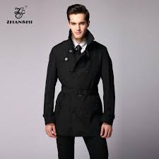 men trench coat black new collection high quality fashion men black trench coat with belt free in trench from clothing accessories on home ideas